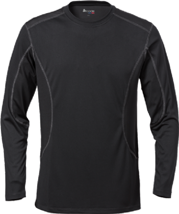 Fristads Long-Sleeved Coolpass T-Shirt Acode 1923 (Black)